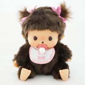 Bebichhichi 中型粉紅色口水巾軟頭女孩