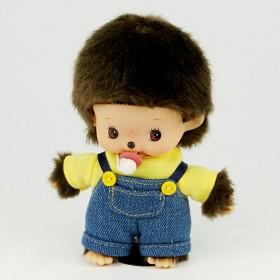 Bebichhichi 黃色T恤工人褲男孩