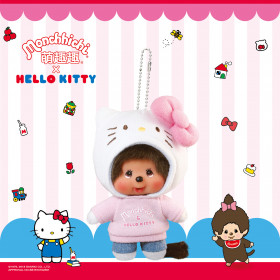 Monchhichi X Sanrio Hello Kitty 掛件