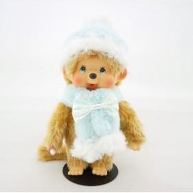 Monchhichi 四十周年粉藍冬裝男孩