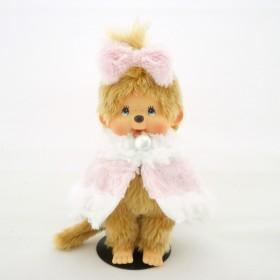 Monchhichi 四十周年粉紅冬裝女孩