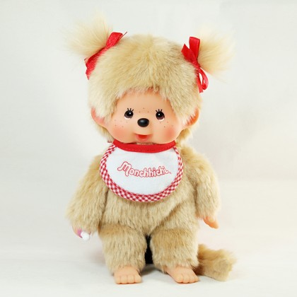 Monchhichi 基本款金髮孖辮女孩 (Premium)