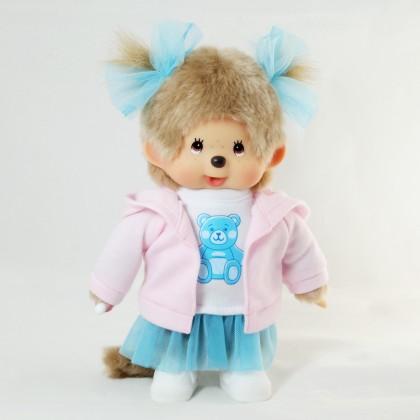 Monchhichi Youme Kawaii 小熊T恤女孩