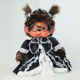 Monchhichi Lolita 黑色眼鏡女孩