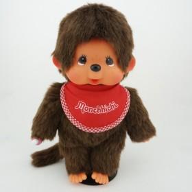 Monchhichi紅色圍巾男孩 中型