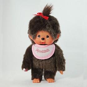 Monchhichi 基本款圍巾女孩(粉紅)