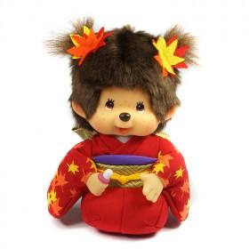 Monchhichi 楓葉和服跪姿女孩