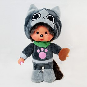 Monchhichi x Monster Hunter 灰色艾露貓