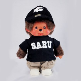 Monchhichi SARU黑色T恤男孩
