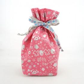 Monchhichi 粉紅色小型禮品袋