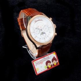 Monchhichi 銅色真皮手錶