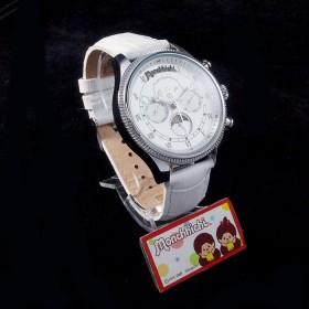 Monchhichi 銀色真皮手錶