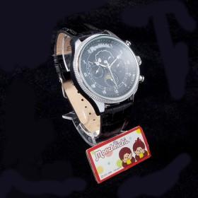 Monchhichi 灰色真皮手錶