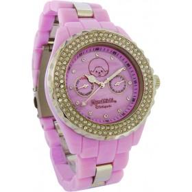 Monchhichi粉紅色水晶手錶
