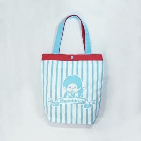 Monchhichi 帆布袋(粉藍色)