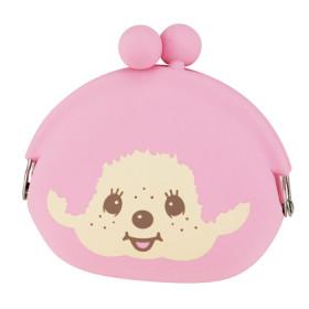 Monchhichi 粉紅色矽膠零錢包