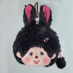 Monchhichi 兔子- 零錢包/卡套 (黑色)