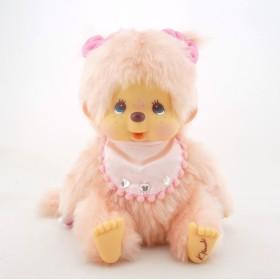 Monchhichi 設計師粉紅色特別版女孩 中型