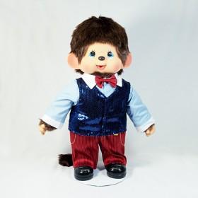 Monchhichi 盛裝男孩(藍色)(45cm)