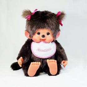 Monchhichi 基本款圍巾女孩(粉紅色)