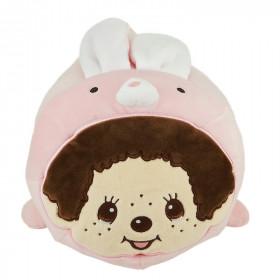 Monchhichi 軟棉棉兔仔抱枕