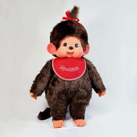 Monchhichi 基本款圍巾女孩(紅色)(中型)