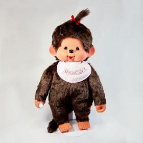 Monchhichi 基本款圍巾女孩 (粉紅色)(55cm)