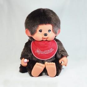 Monchhichi 基本款軟頭圍巾男孩(紅色)(55cm)