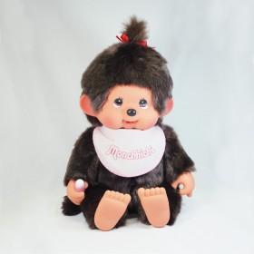 Monchhichi 基本款軟頭圍巾女孩(粉紅色)(55cm)