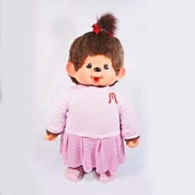 Monchhichi 粉色外套女孩(大型)