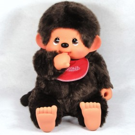 Monchhichi 基本款圍巾男孩 (紅色)(大型)