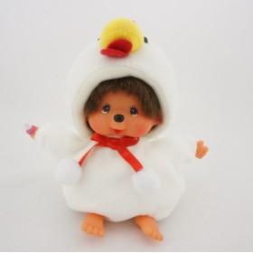 Monchhichi白色公雞豆袋男孩