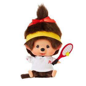 Monchhichi 大頭網球女孩掛件