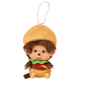 Monchhichi漢堡包大頭掛件