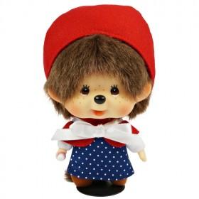 Monchhichi 大頭小紅帽掛件女孩