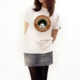Monchhichi 咖啡T-Shirt(細碼)