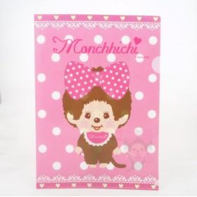 Monchhichi粉紅白點文件夾